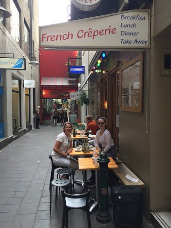 So good I came back. The crepes are yum, the coffee is good, staff are friendly and I love the l