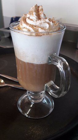 Ivybridge, UK: Latte with Hazelnut Syrup & Whipped Cream