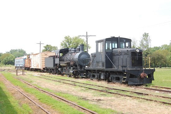 Grand Rapids, OH: TLE&W Diesel #1 and Steam Locomotive #202