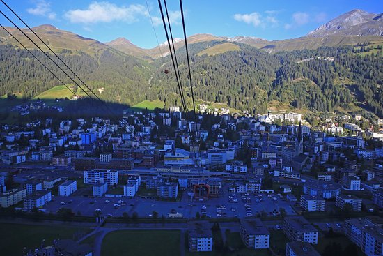 Hotel Europe : Davos from cable car station