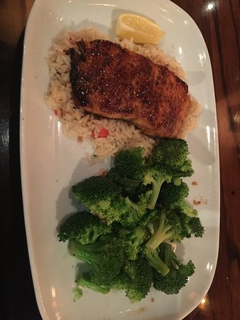 Newington, NH: I know it is a steakhouse but... the salmon looked so good I had to try it. And it was great!  G