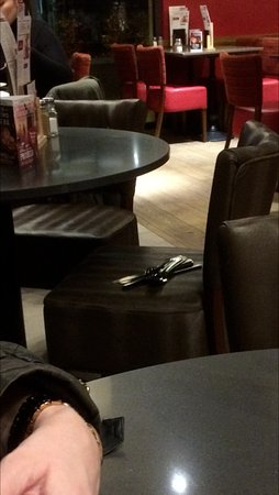 Burton upon Trent, UK: The cutlery left on the chair