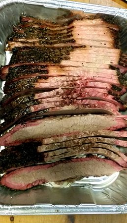 Alpine, TX: Carry-out beef brisket.