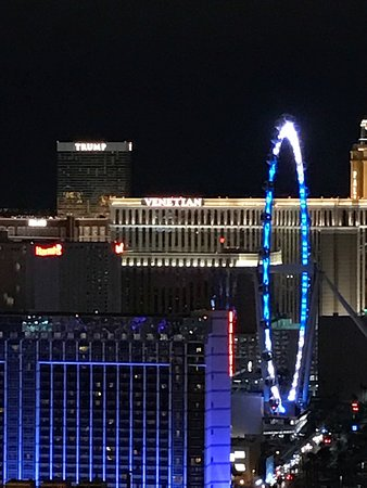 Signature at MGM Grand: Views from my 1 BDRM balcony. If you love Vegas but don't always like smelling like smoke, this