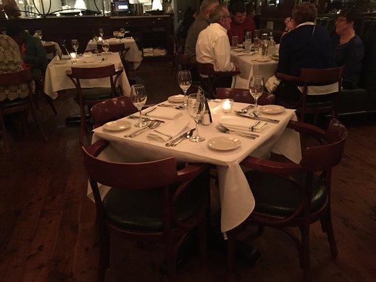 Mr. B's Bistro: Mr. B's table setting