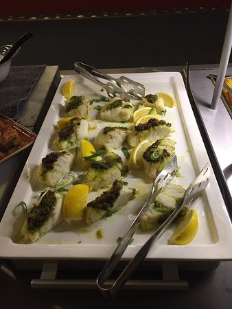 Laugarvatn, Islandia: cod (I think poached in lemon butter and herbs)