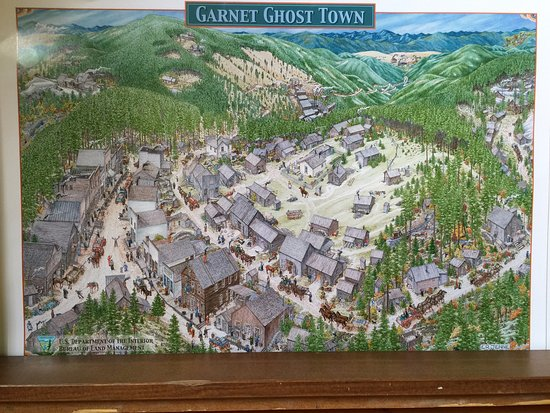 Missoula, MT: Overview poster of the town available at the General Store