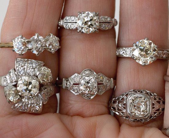 Just a few antique vintage rings from 1800s to 1950s Picture of