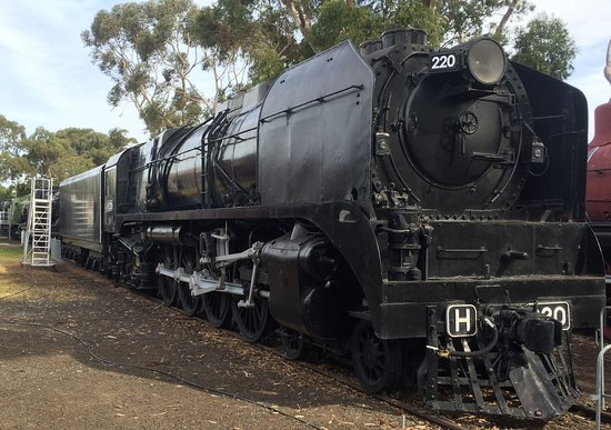 Williamstown, Australia: Express locomotive H 220 'Heavy Harry', at 260 ton, the largest steam loco ever built in Austral
