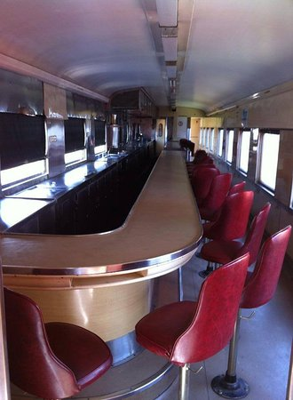 Williamstown, Australia: The stunning 1930s interior of our former 'Spirit of Progress' buffet car