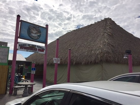Saint Marks, FL: New addition, a gigantic tikibar