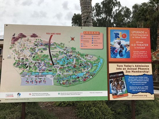 Phoenix Zoo Map Map of zoo grounds   Picture of Phoenix Zoo, Phoenix   TripAdvisor Phoenix Zoo Map