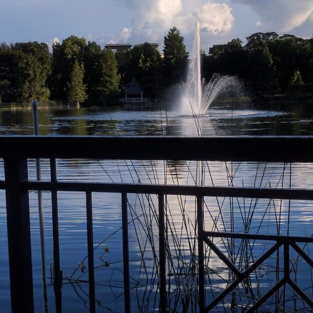 Maitland, FL: Fountain in the center of Lake Lily