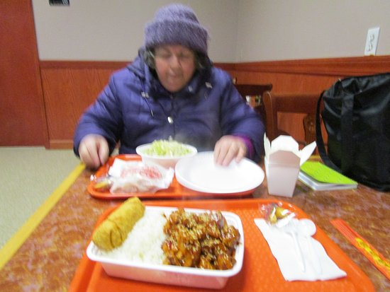 Cranston, RI: That is me eating my meal at Chen Garden.