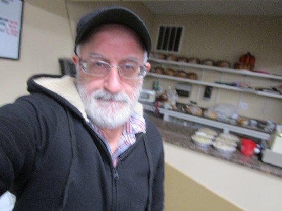 East Providence, RI: Louis inside the bakery.
