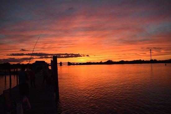 Babylon, Estado de Nueva York: Captree Boat Basin at sunset