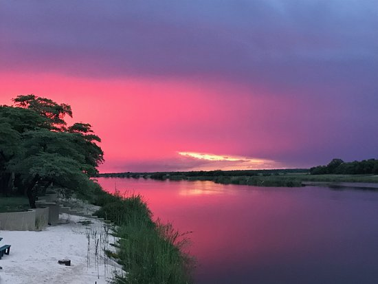 Rundu, Namibia: Sunset following a storm