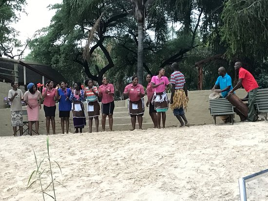 Rundu, Namibia: Drummers welcoming the return of the champagne cruise