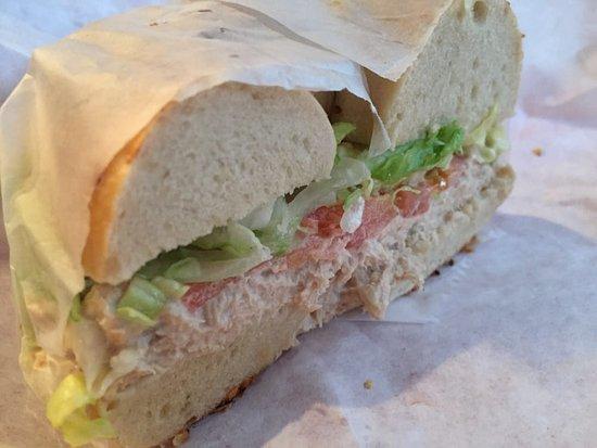 Midland Park, NJ: Tuna salad on a bagel