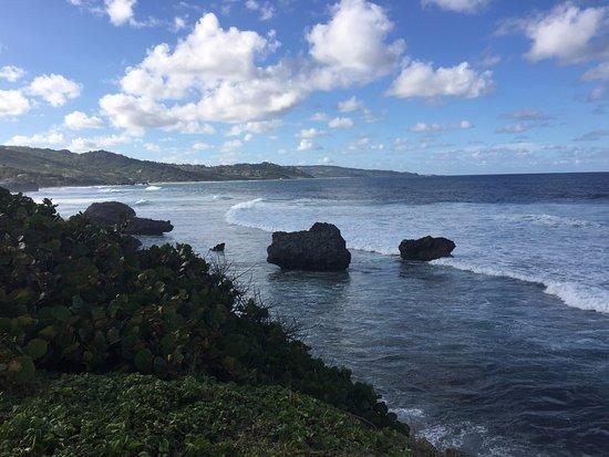 Bathsheba, Barbados: Taken from path to Soup Bowl from Atlantis Restaurant.