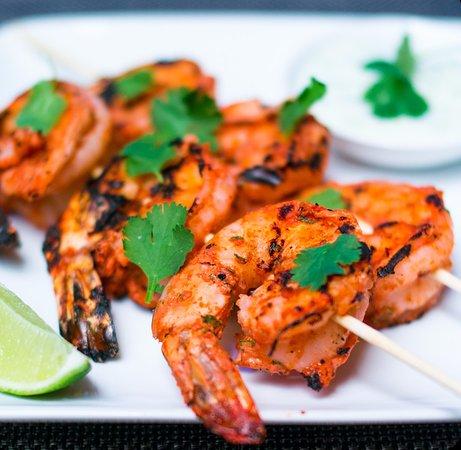 Yonkers, Estado de Nueva York: Tandoori Shrimp on skewers