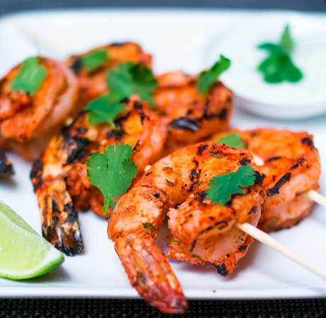 Yonkers, NY: Tandoori Shrimp on skewers