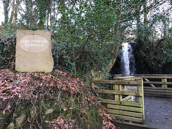 Stranorlar, Ireland: The main falls viewing area
