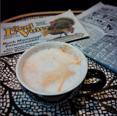 Oxford, MS: cappuccino and some local news..