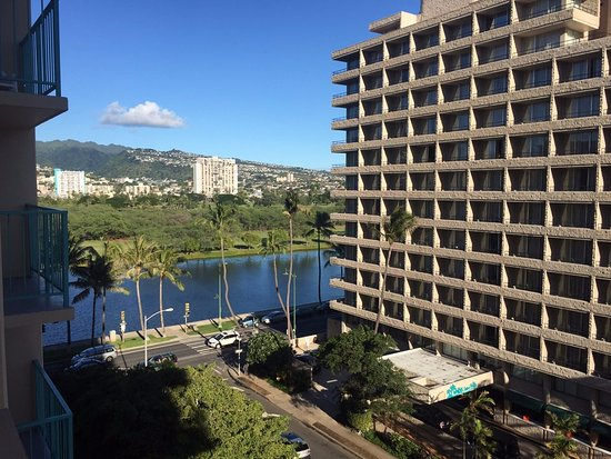 Aqua Aloha Surf Waikiki: view was okay, almost only good part of my room during stay