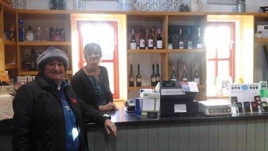 Horsham, UK: My mum and the owner.