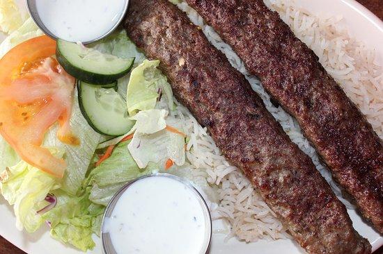 South Salt Lake, Utah: Shami Kabob - Marinated ground beef.