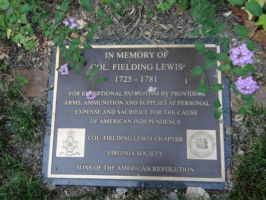 Fredericksburg, Virginie : Col Fielding Lewis