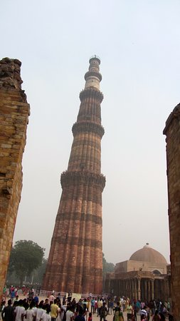 """The tall """"Tower"""" of the the Qutub Minar."""