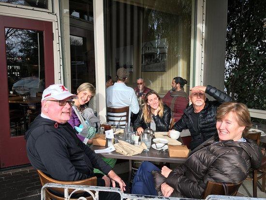 Los Olivos, CA: Rest of family on porch