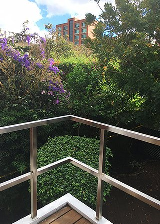 La Inmaculada Hotel: Garden view from the suite (second balcony)