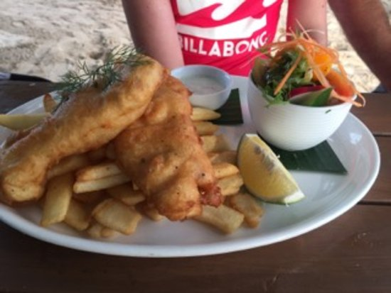 Titikaveka, Kepulauan Cook: best fish and chips, ever......