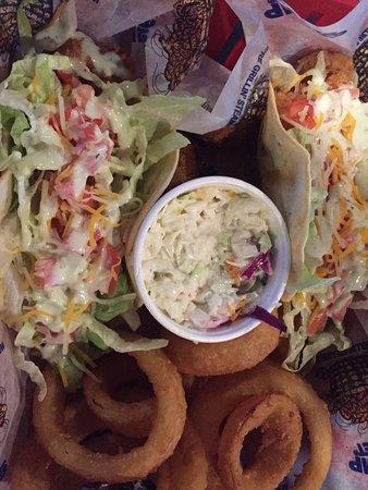 Shrimp Basket: Shrimp tacos