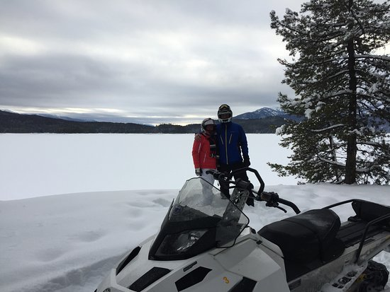 West Glacier, MT: Great snowmobiling in Montana