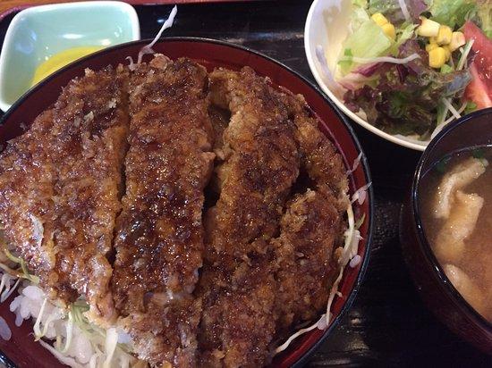 Omachi, Japan: 名物のソースかつ丼