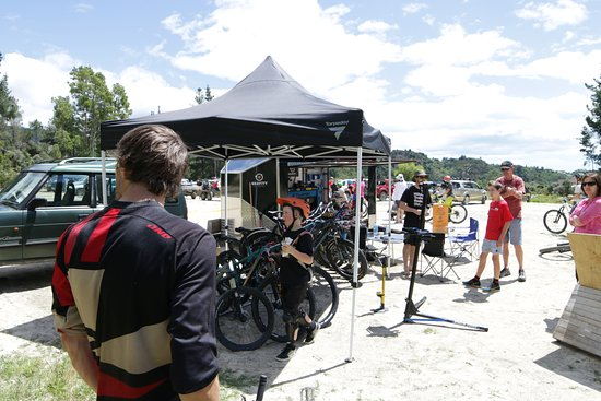 Tasman, New Zealand: I also bumped into the gravity tent whilst visiting Kaiteriteri bike park.