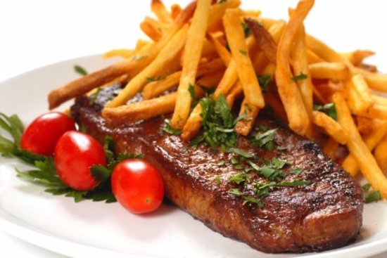 Edenvale, South Africa: Sirloin Steak with a side of chips