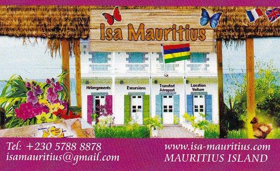 Isa Mauritius Ma Carte De Visite