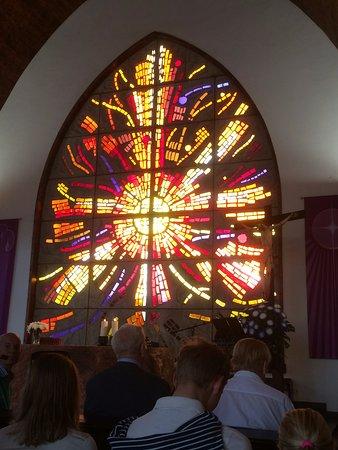 Templo Ecumenico de San Salvador : Vackert alltarfönster