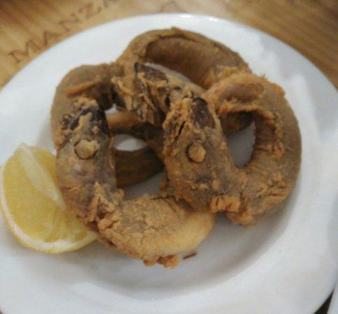 Pijotas (fried small hake) half ration