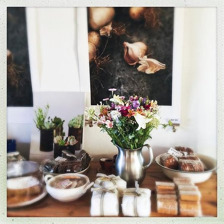 Prince Albert, Afrique du Sud : Flowers and beautiful photographic prints from work by co-owner and photographer Russel Wasserfa