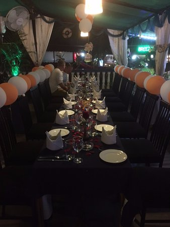 Top Table Restaurant Bar Birthday Party Set Up