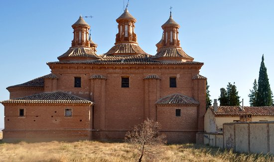 Belchite, Spain: The lovely towers of our Lady of Pueyo