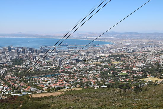 Table Mountain Aerial Cableway: Partial view of Cape Town Waterfront from the Cableway