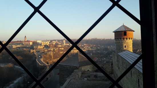 Kamianets-Podilskyi, Ucrania: view from castle tower
