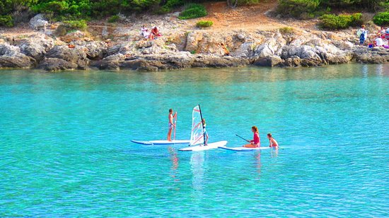 School and fun in Milna bay, island Vis